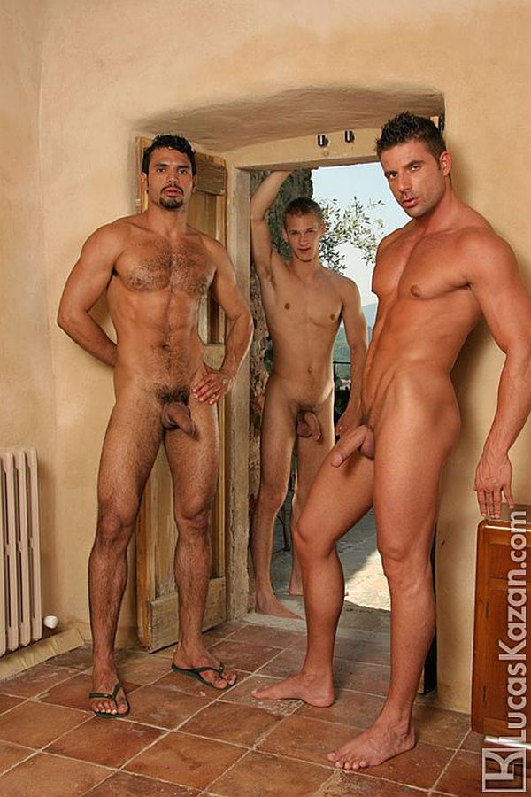 ... back in time and releasing this never before seen set: a scorching-hot  threesome with Czech twink Otto Voko and Hungarian superstar Julian Vincenzo .